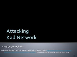 Attacking  Kad  Network