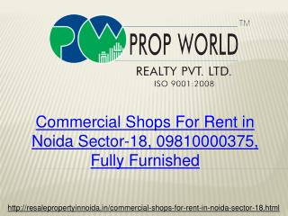 Commercial Shops For Rent in Noida Sector-18, 09810000375, F