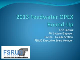 2013  Feedwater  OPEX Round-Up