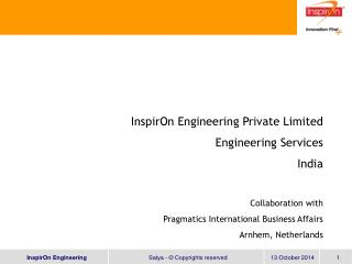 InspirOn Engineering Private Limited Engineering Services India Collaboration with