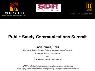 Public Safety Communications Summit