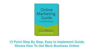 ClickMatix Online Marketing Guide for Medical Industries