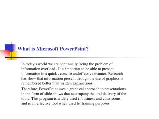 What is Microsoft PowerPoint?