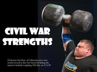 Civil War Strengths