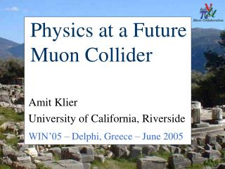 Physics at a Future Muon Collider
