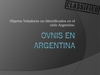 Ovnis en Argentina