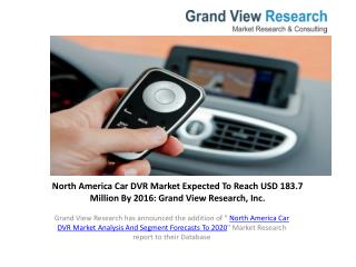 North America Car DVR Market Size to 2020