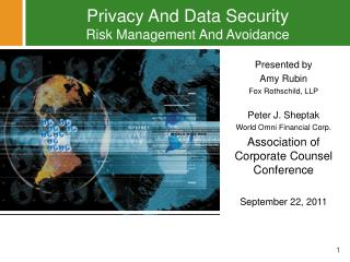 Privacy And Data Security Risk Management And Avoidance