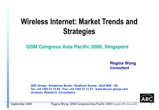 Wireless Internet: Market Trends and Strategies