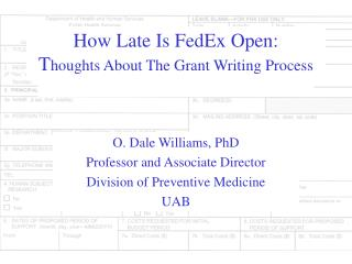 How Late Is FedEx Open: T houghts About The Grant Writing Process