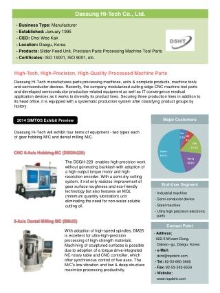 CNC 6-Axis Hobbing MC (DSGH-220)
