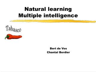 Natural learning  Multiple intelligence