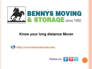 Know your long distance Mover