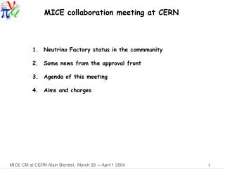 MICE collaboration meeting at CERN