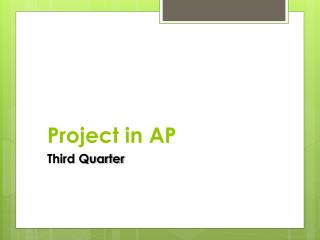 Project in AP