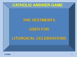 CATHOLIC ANSWER GAME