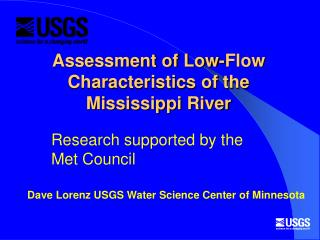 Assessment of Low-Flow Characteristics of the Mississippi River
