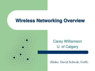 Wireless Networking Overview