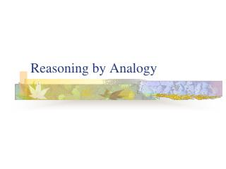 Reasoning by Analogy