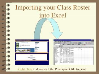 Importing your Class Roster into Excel