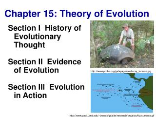 Chapter 15: Theory of Evolution