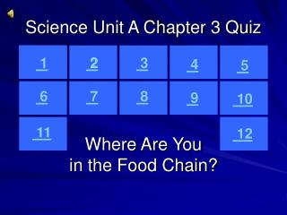 Science Unit A Chapter 3 Quiz