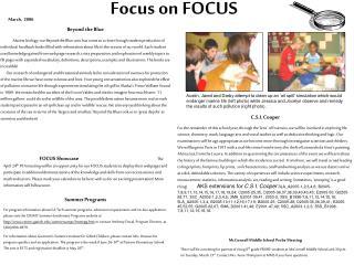 Focus on FOCUS