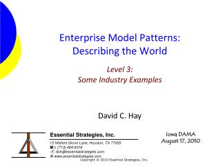 Enterprise Model Patterns: Describing the World