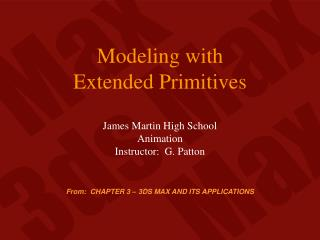 Modeling with Extended Primitives