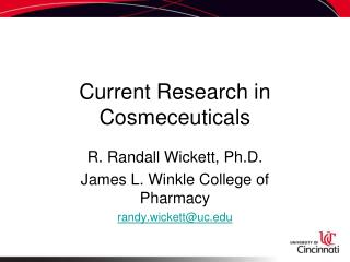 Current Research in Cosmeceuticals