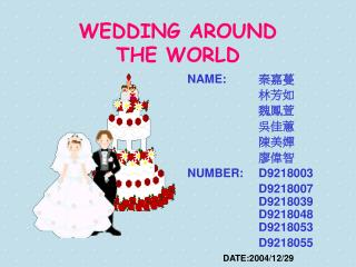 WEDDING AROUND  THE WORLD