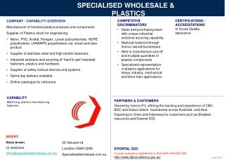 SPECIALISED WHOLESALE & PLASTICS