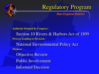 Regulatory Program