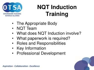 NQT Induction Training