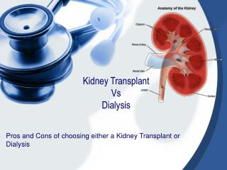 Kidney Transplant  Vs  Dialysis