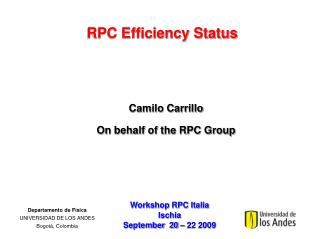 RPC Efficiency Status