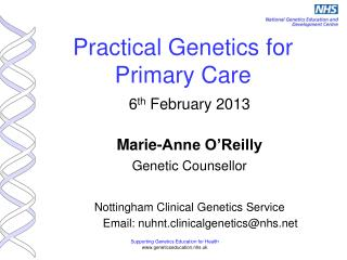 Practical Genetics for Primary Care