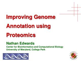 Improving Genome Annotation using Proteomics