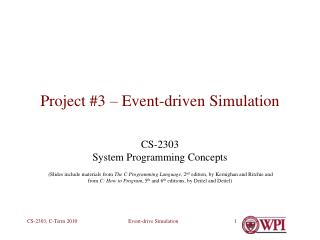 Project #3 – Event-driven Simulation