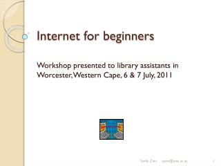 Internet for beginners