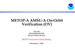 METOP-A AMSU-A On-Orbit Verification (OV)