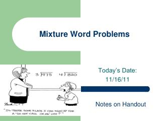 Mixture Word Problems