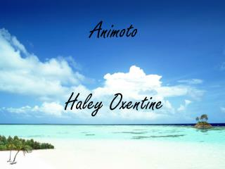 Animoto Haley Oxentine
