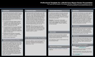 Professional Template for a 60x36 Case Report Poster Presentation
