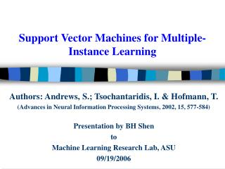 Support Vector Machines for Multiple-Instance Learning