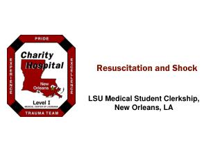 Resuscitation and Shock
