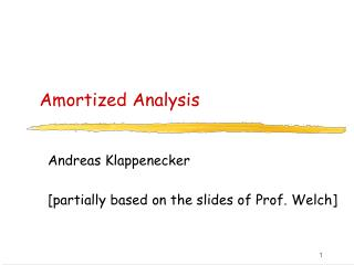 Amortized Analysis