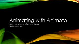 Animating with Animoto