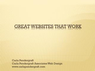 Great Websites that Work