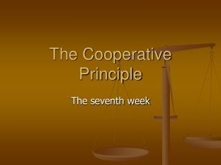 The Cooperative Principle